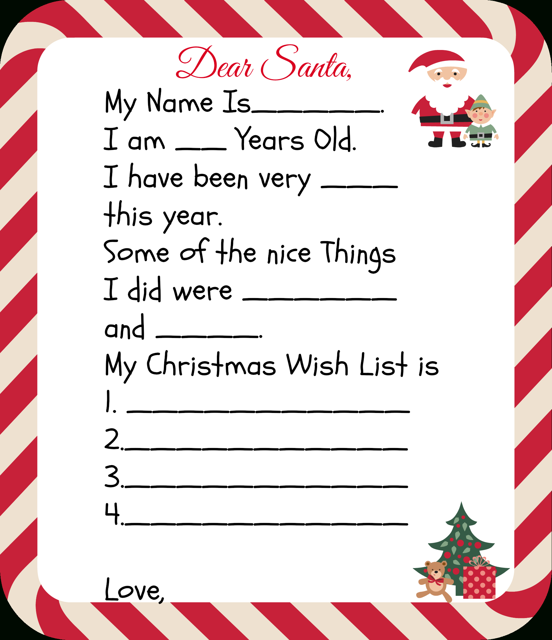 Free Printable Santa Letters For Kids | Holiday Ideas: Christmas - Free Printable Santa Letter Paper