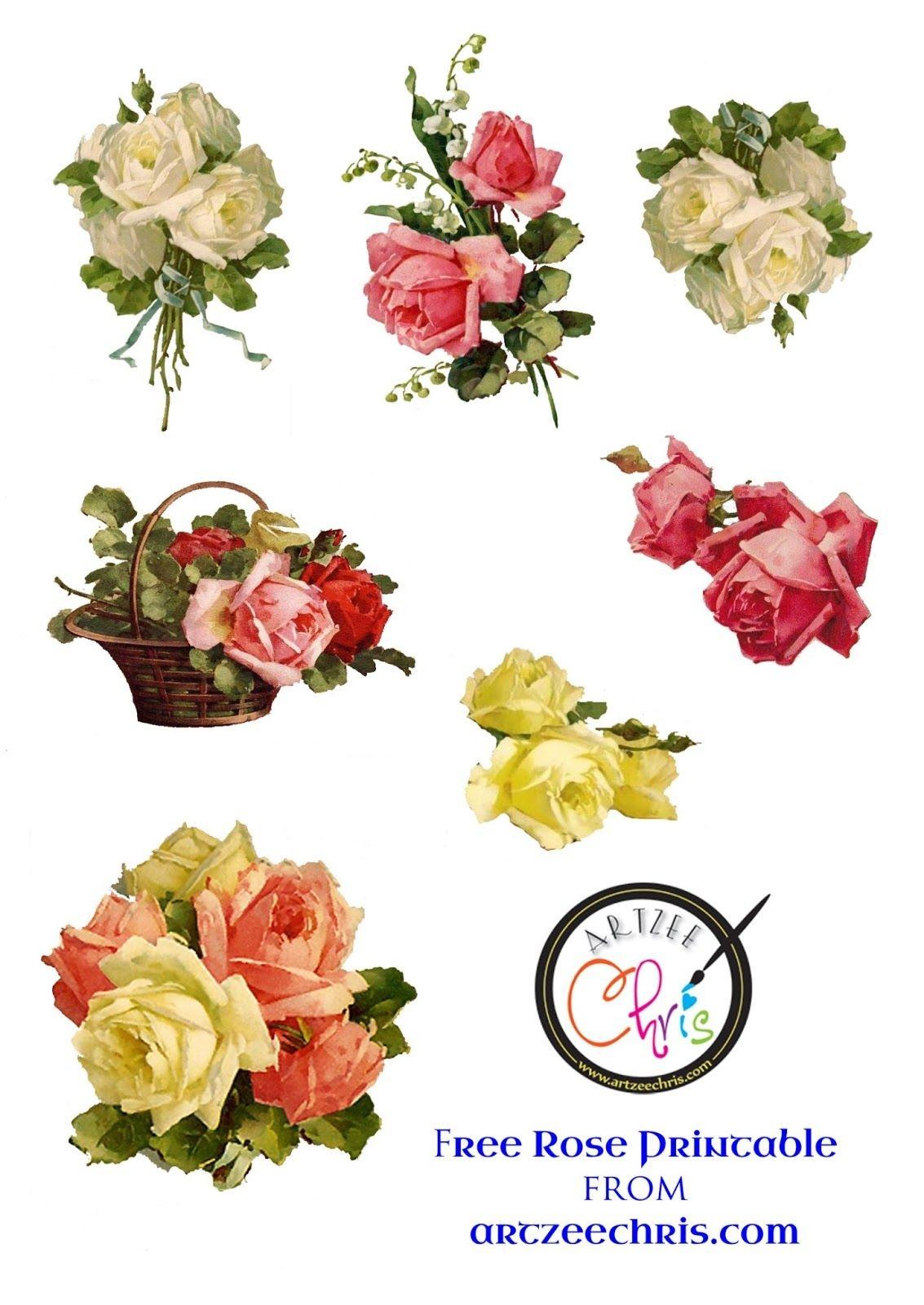 Free Printable Scrapbook Cutouts | Free Printable Of Victorian Roses - Scrapbooking Die Cuts Free Printable