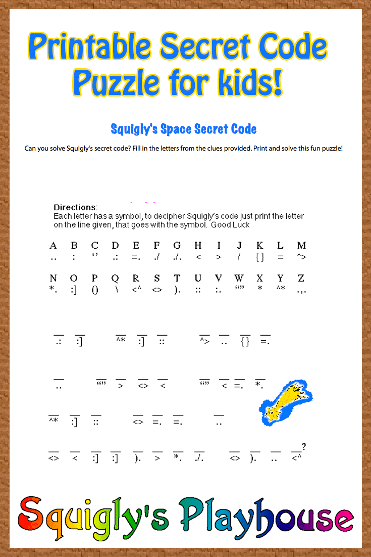 Free Printable Secret Code Word Puzzle For Kids. This Puzzle Has A - Free Printable I Spy Puzzles