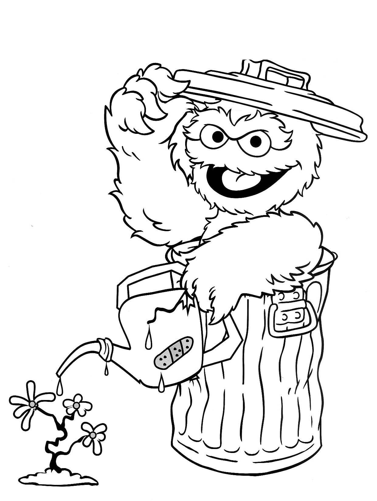 Free Printable Sesame Street Coloring Pages For Kids - Free Printable Coloring Pages Sesame Street Characters