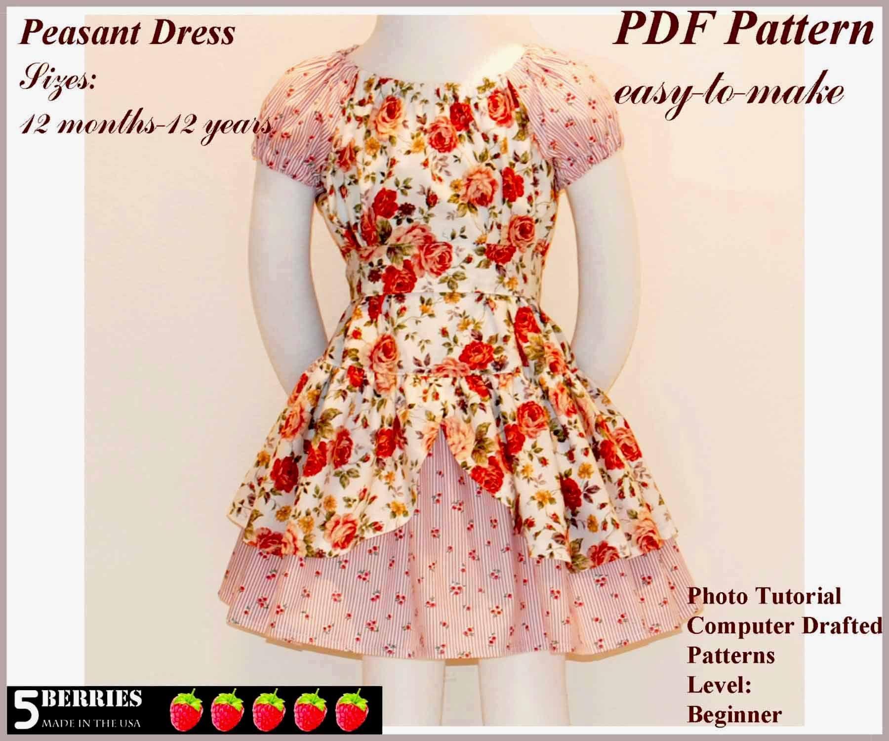 Free Printable Sewing Patterns   Alexandra Girls Dress Sewing - Free Printable Sewing Patterns For Kids
