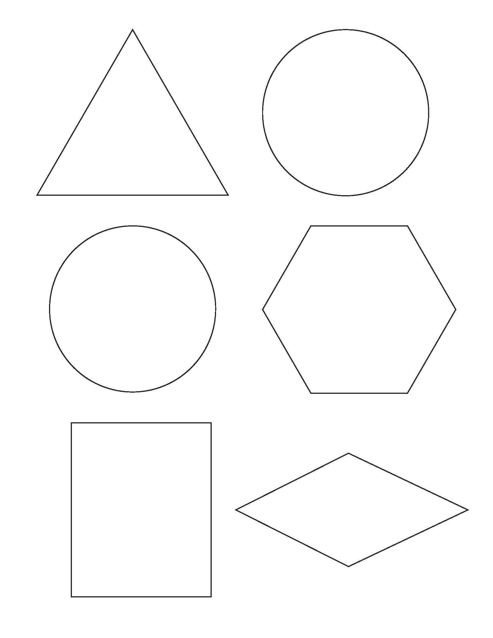 Free Printable Shapes Templates – Pazzo - Free Printable Shapes Templates