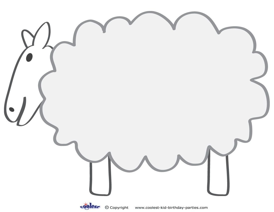 Free Printable Sheep Template | Colors And Things | Sheep Template - Free Printable Sheep Mask