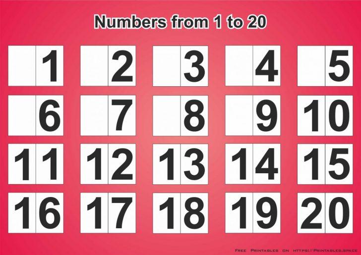Free Printable Numbers 1 20