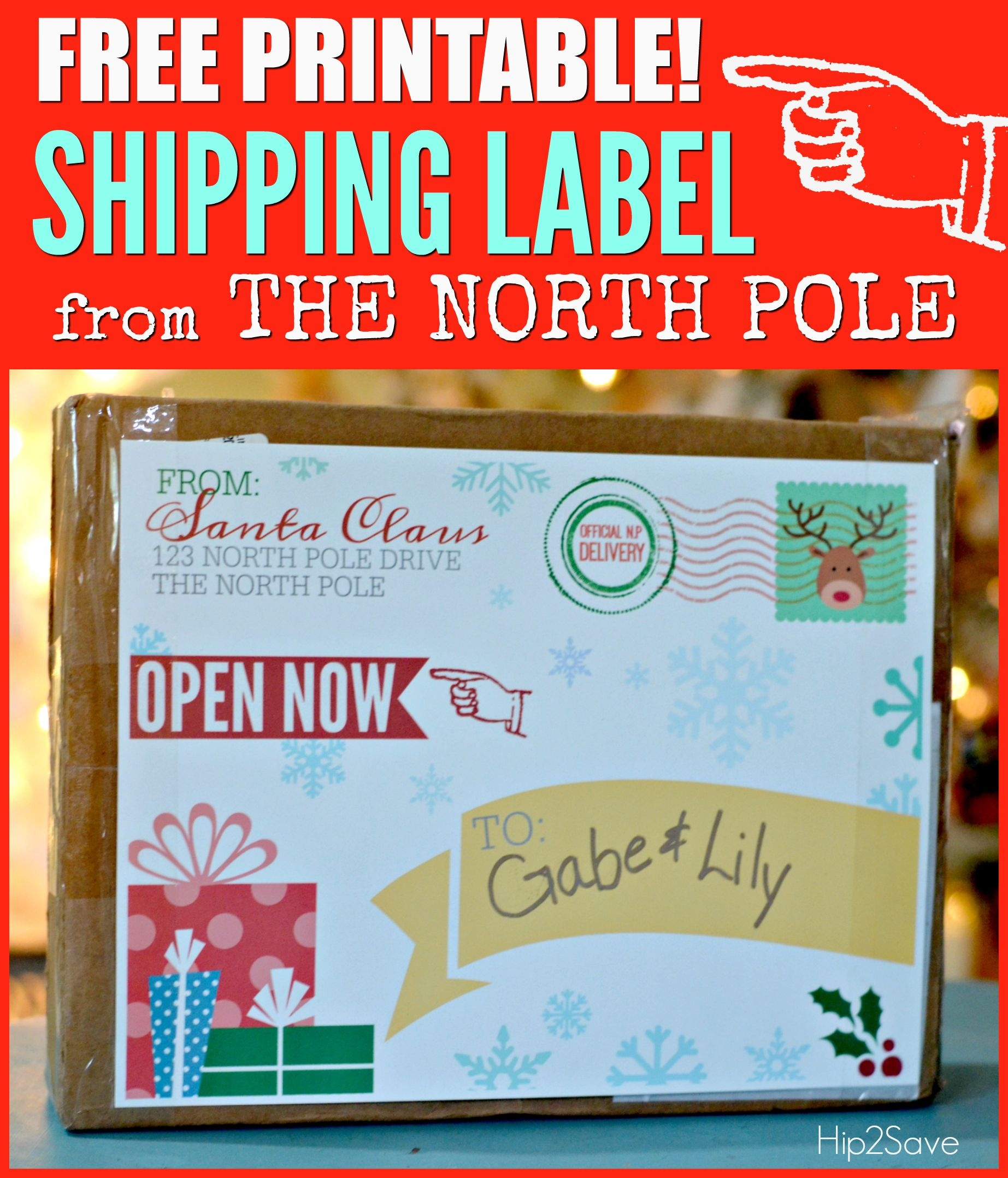 Free Printable Shipping Label From Santa Claus | It's The Most - Free Printable Shipping Labels