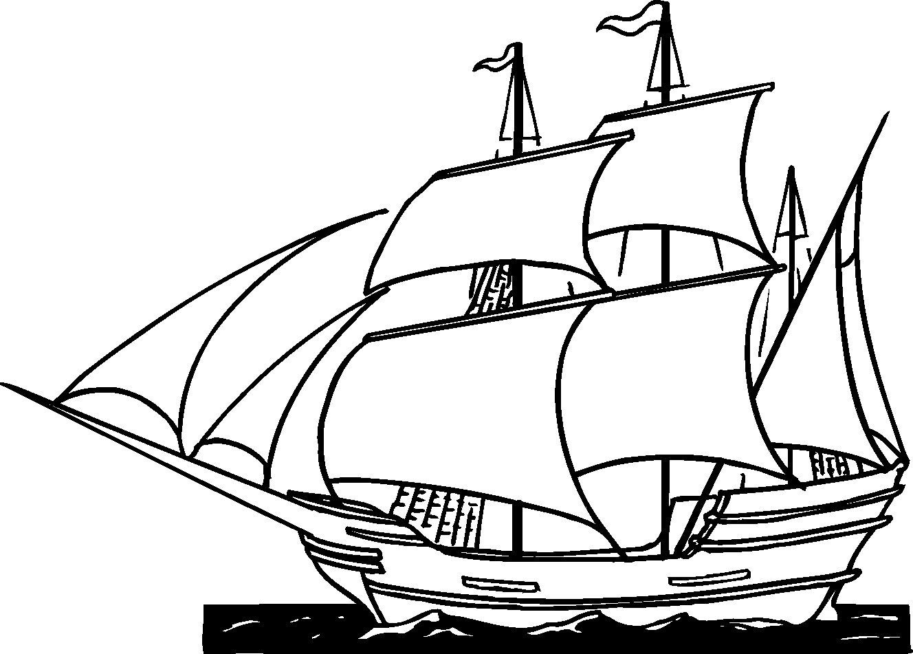 Free Printable Ships Coloring Pages For Boys | Ap Us History | Free - Free Printable Boat Pictures