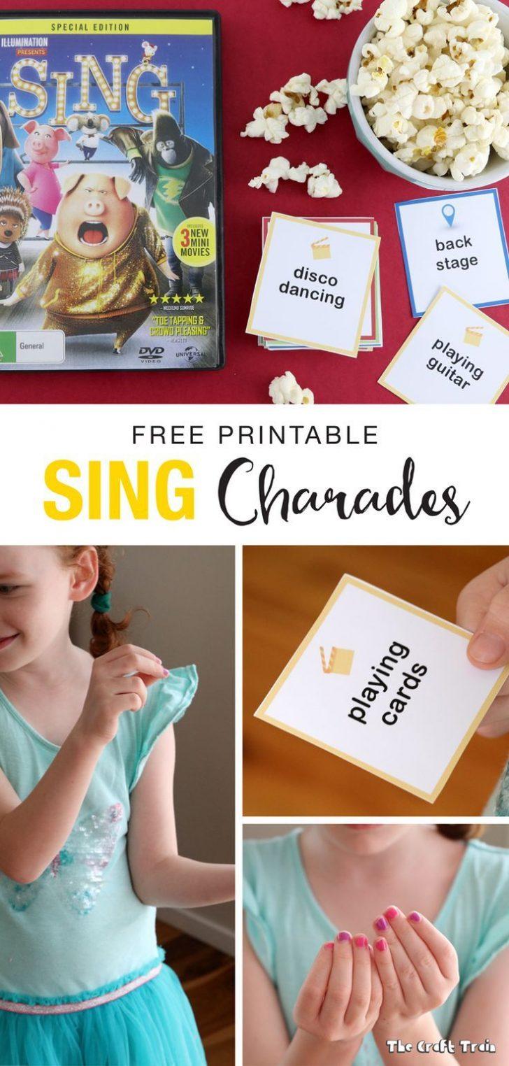 Free Printable Charades Cards