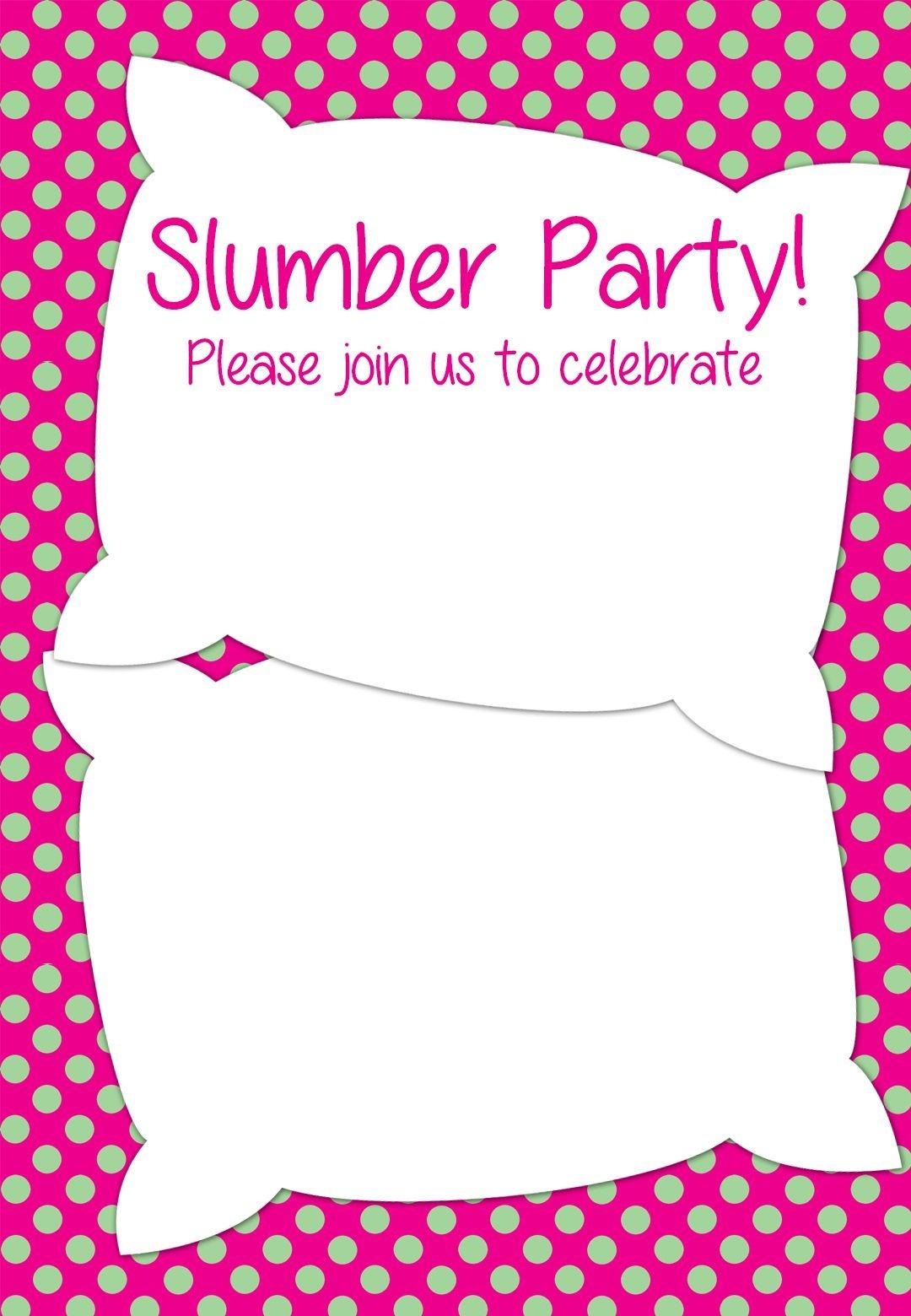 Free Printable Slumber Party Invitation | Party Ideas In 2019 - Free Printable Spa Party Invitations Templates