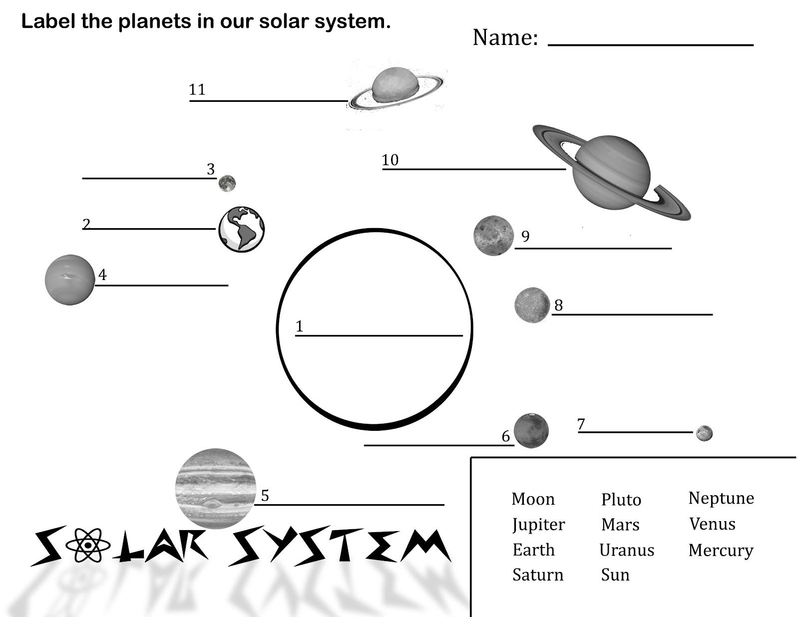 Free Printable Solar System Coloring Pages For Kids | Science - Solar System Charts Free Printable