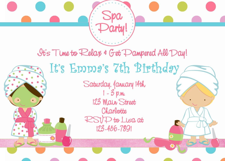 Free Printable Spa Birthday Party Invitations | Spa At Home | Spa - Free Printable Spa Party Invitations Templates