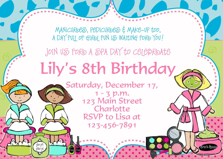 Free Printable Spa Party Invitations | Spa At Home | Birthday Party - Free Printable Spa Party Invitations Templates