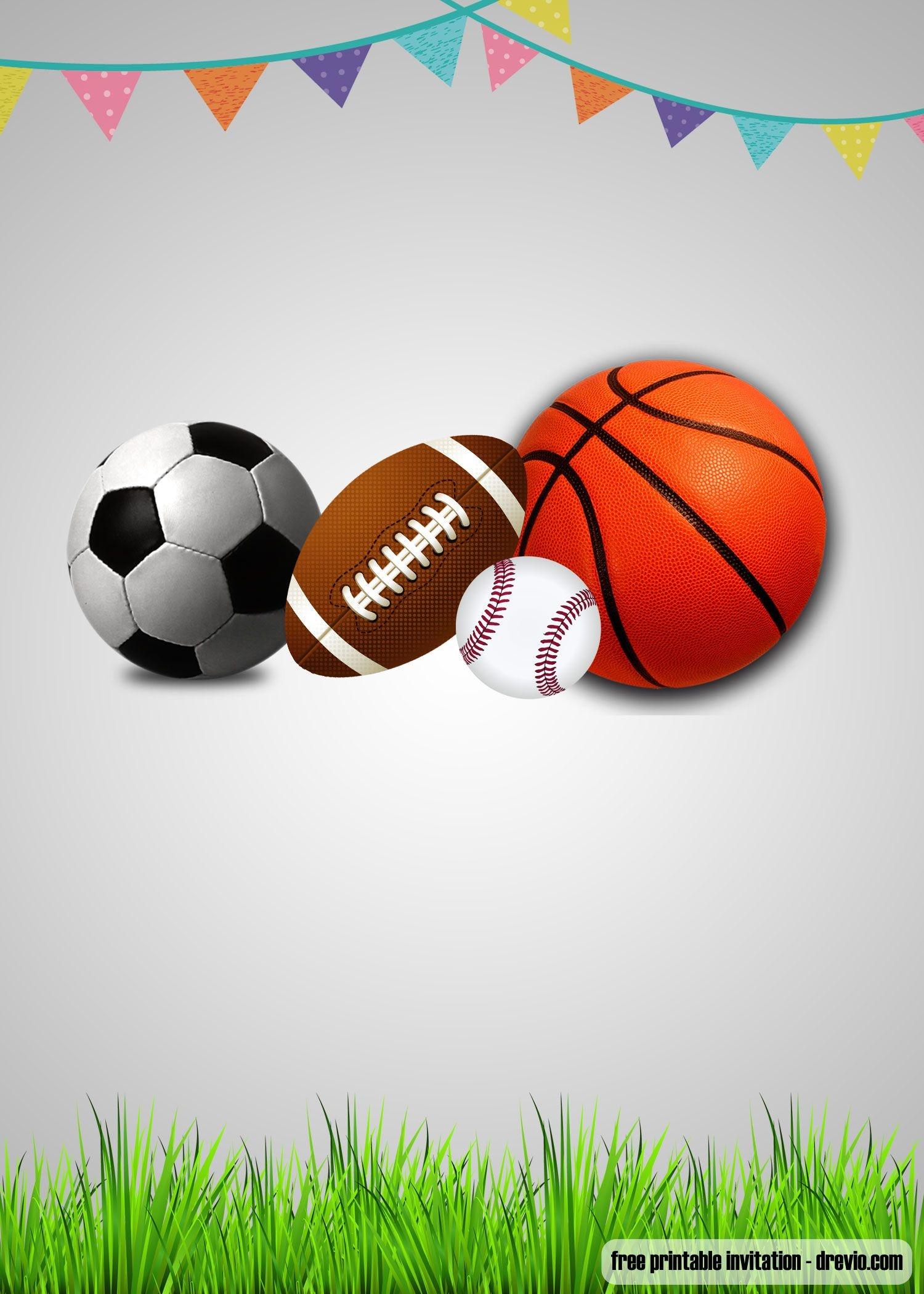Free Printable Sports-Themed Birthday Invitation Templates - Free Printable Sports Birthday Invitation Templates