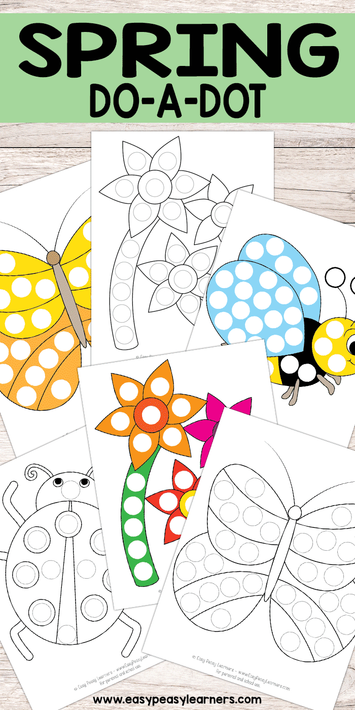 Free Printable Spring Do A Dot Pages   Crafts & Activities For Kids - Do A Dot Art Pages Free Printable