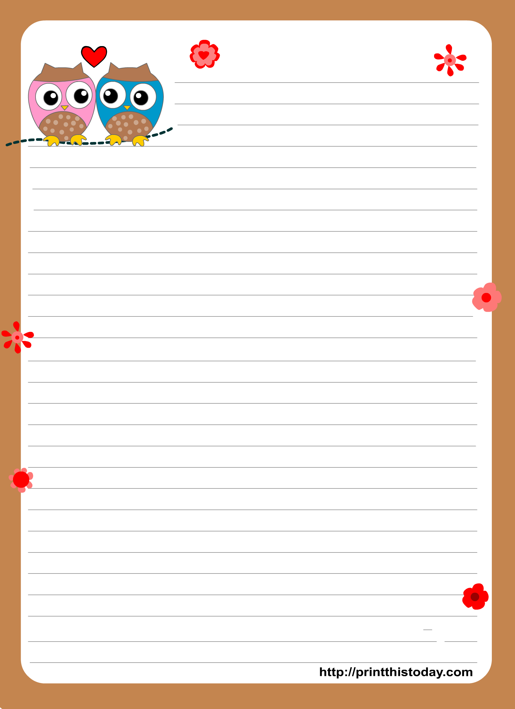Free Printable Stationary | Uiltjes Klas - Writing Paper, Free - Free Printable Stationary