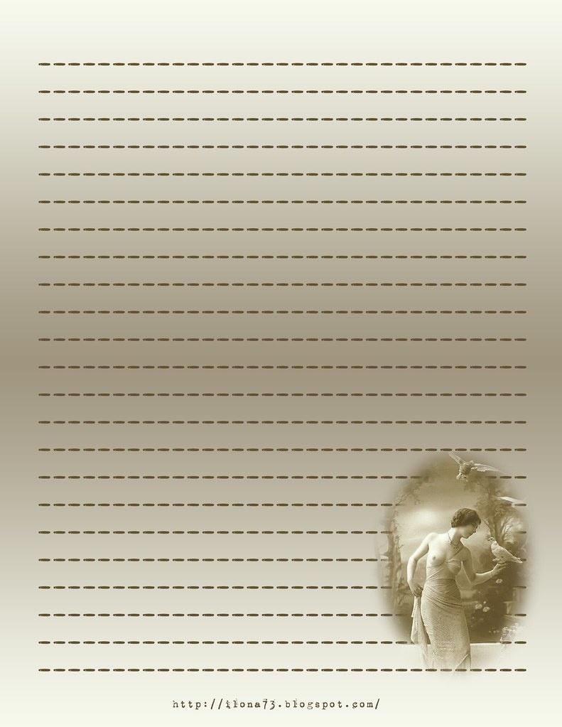 Free Printable Stationary - Vintage Goddess | Anyone May Pri… | Flickr - Free Printable Stationary