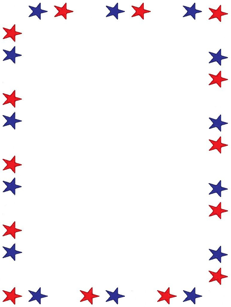 Free Printable Stationery, Free Online Writing Paper | Boarders - Free Printable 4Th Of July Stationery