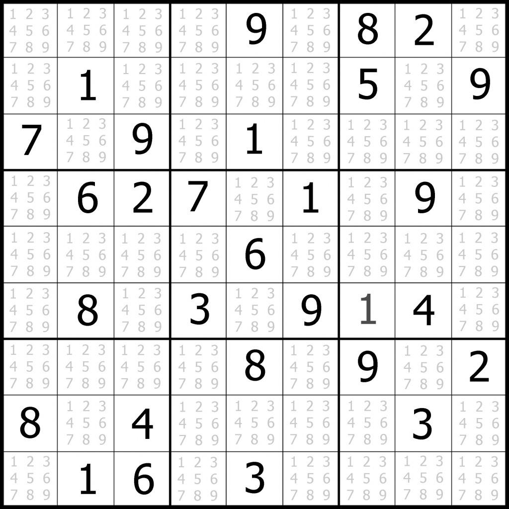 Free Printable Sudoku | Free Printable - Free Printable Sudoku Pdf - Free Printable Sudoku 4 Per Page