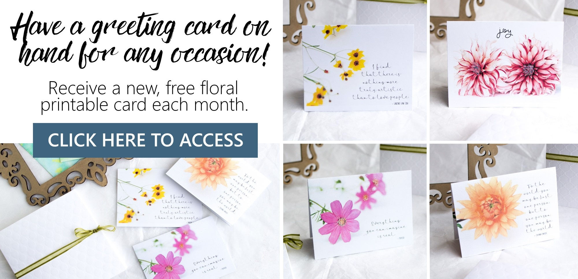 Free Printable Summer Flowers Greeting Cards – Sustain My Craft Habit - Free Printable Special Occasion Cards