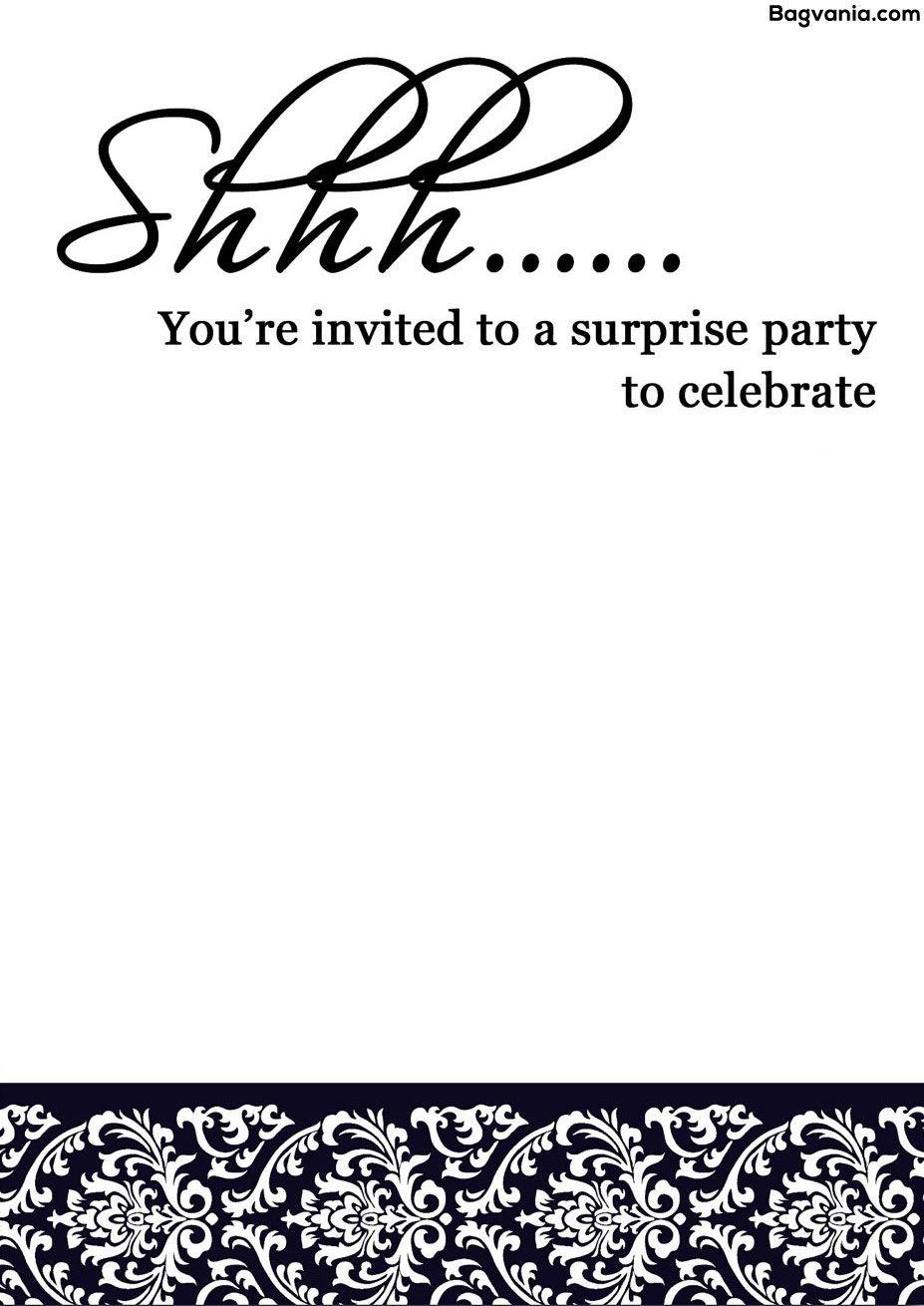 Free Printable Surprise Birthday Invitations – Bagvania Free - Free Printable Surprise Party Invitation Templates