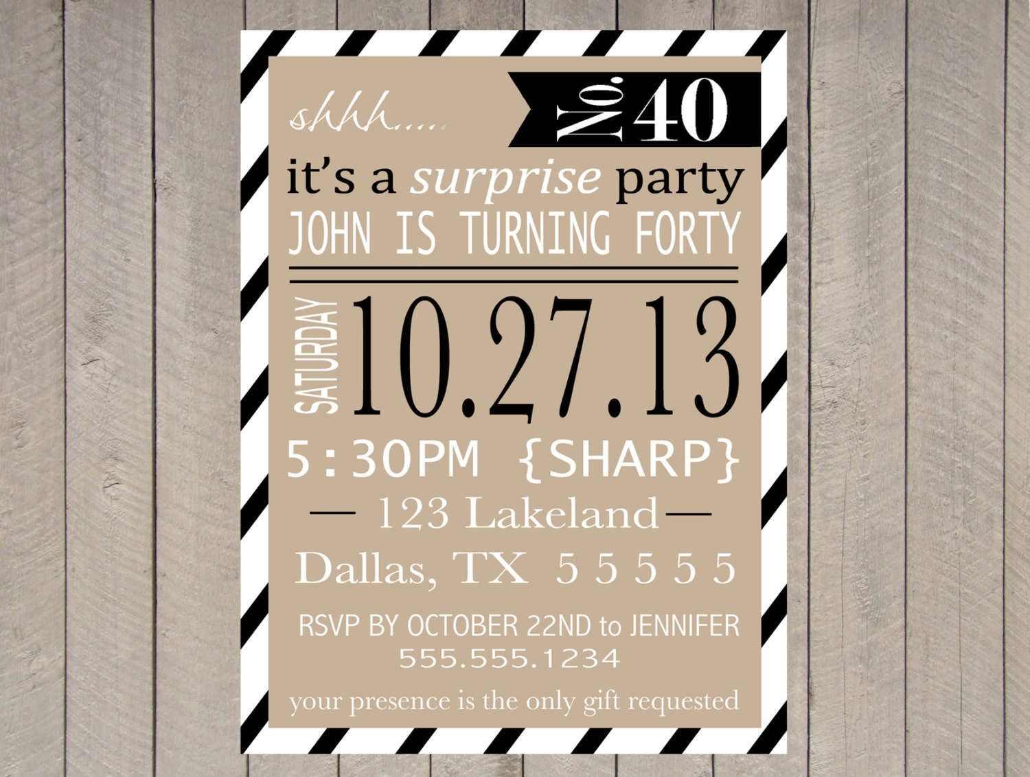Free Printable Surprise Party Invitation Templates | Invitations In - Free Printable Surprise 40Th Birthday Party Invitations