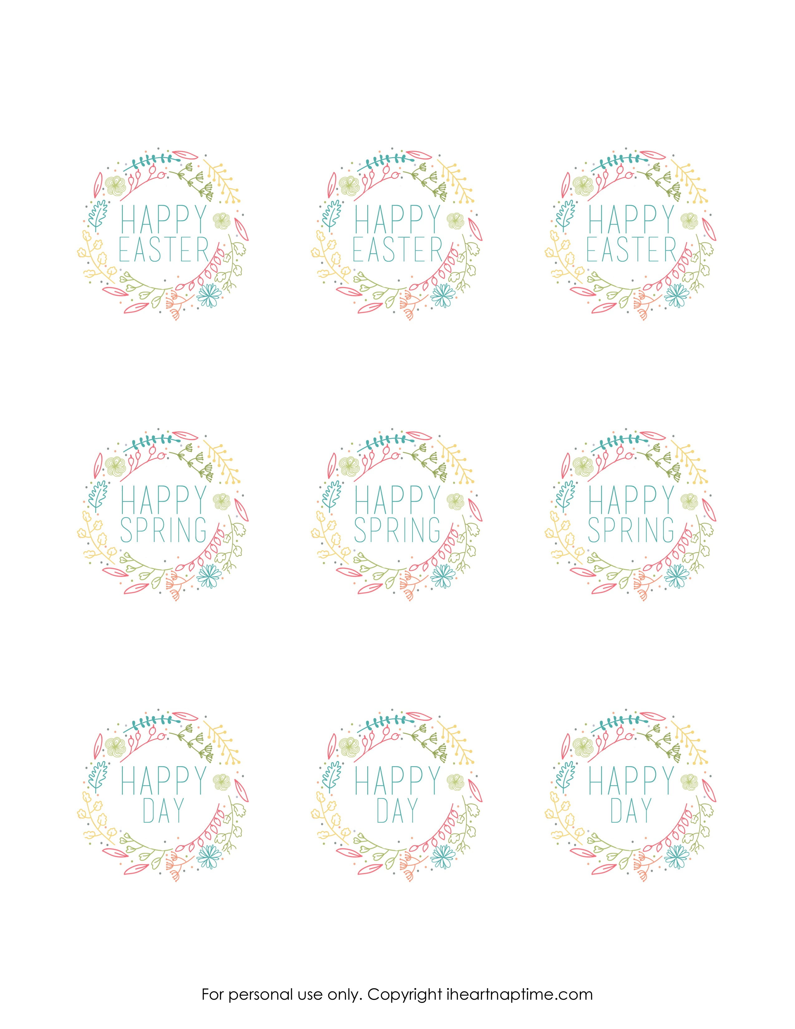 Free Printable Tags Free Printable Labels Lovely Free Spring - Free Printable Tags