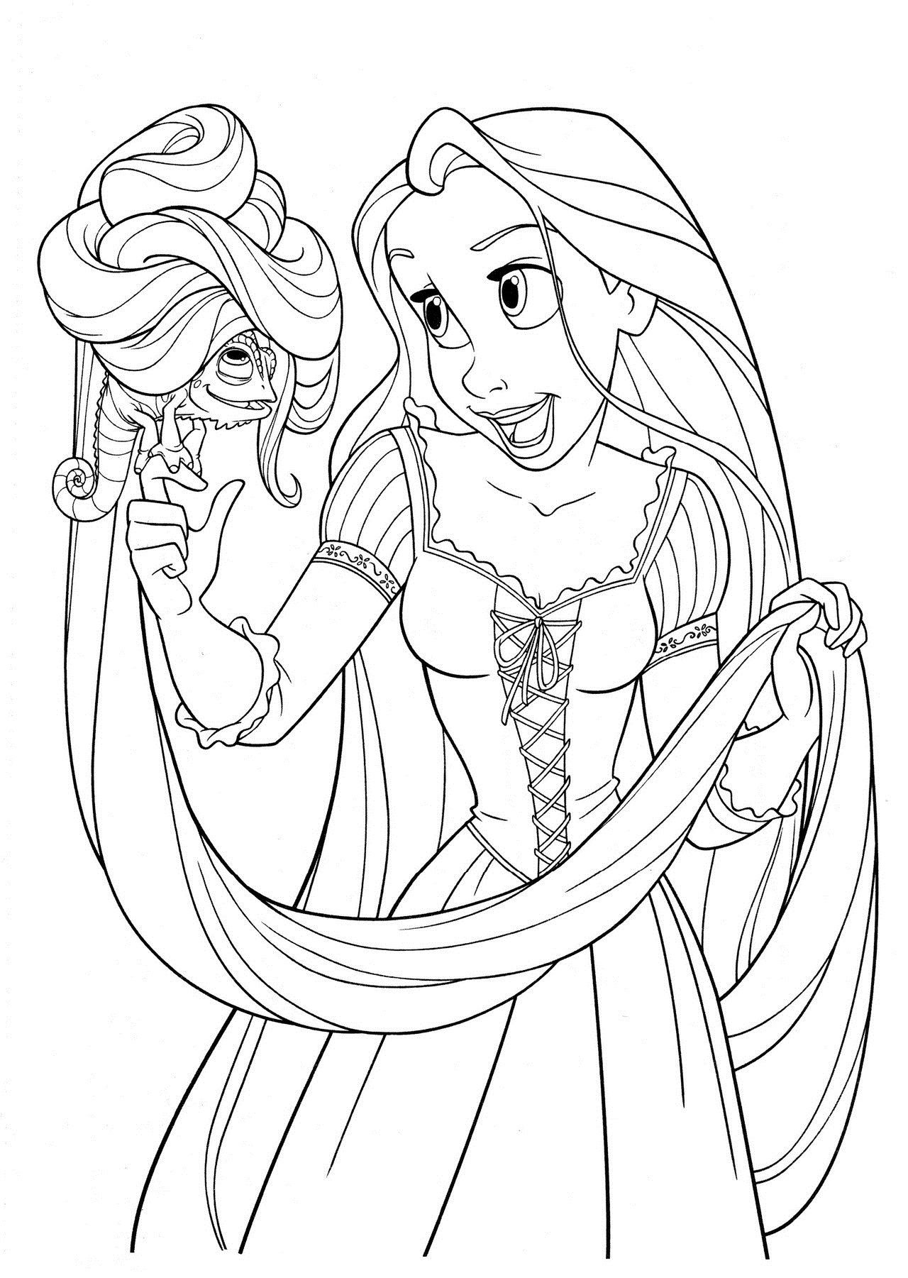 Free Printable Tangled Coloring Pages For Kids | Party Time - Free Printable Tangled