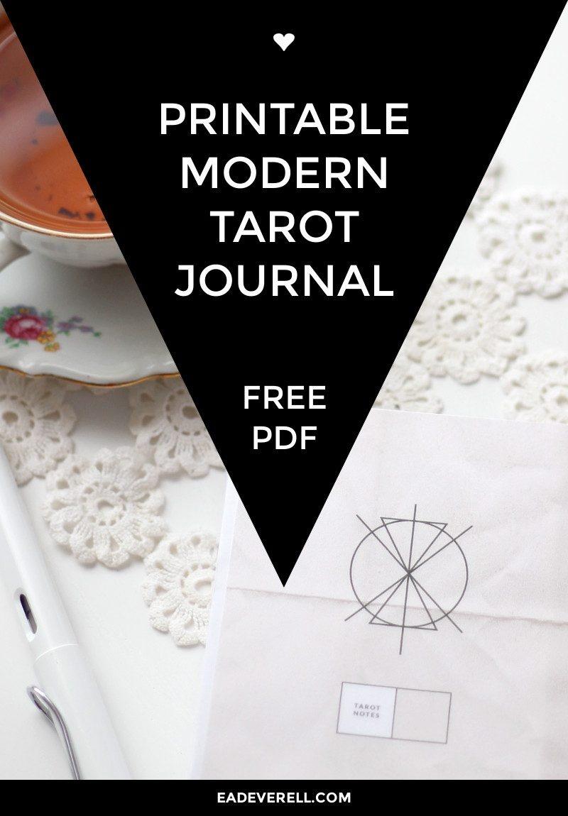 Free Printable Tarot Journal   Creative Writing Blog - Printable Tarot Cards Pdf Free