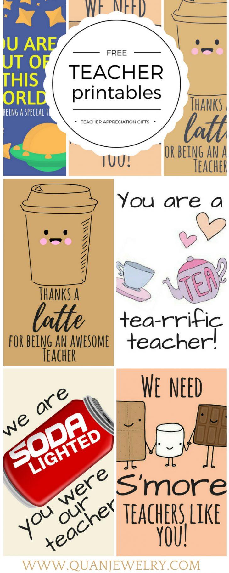 Free Teacher Appreciation Week Printable Cards