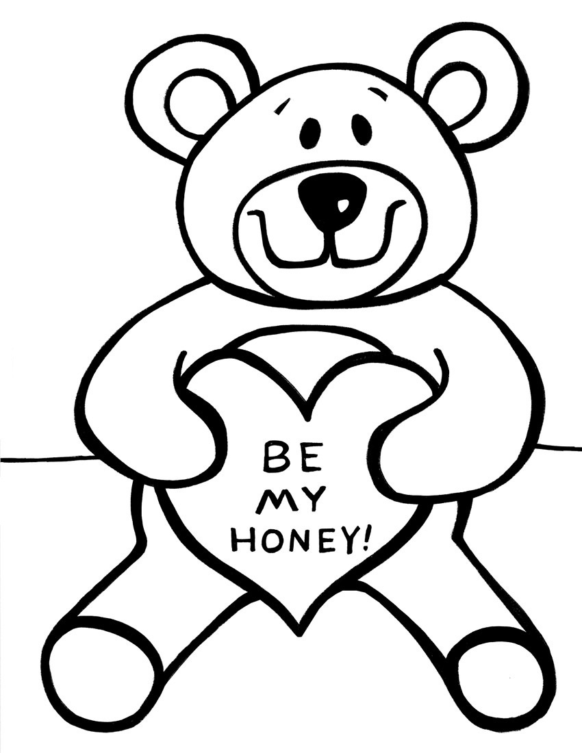 Free Printable Teddy Bear Coloring Pages For Kids - Teddy Bear Coloring Pages Free Printable