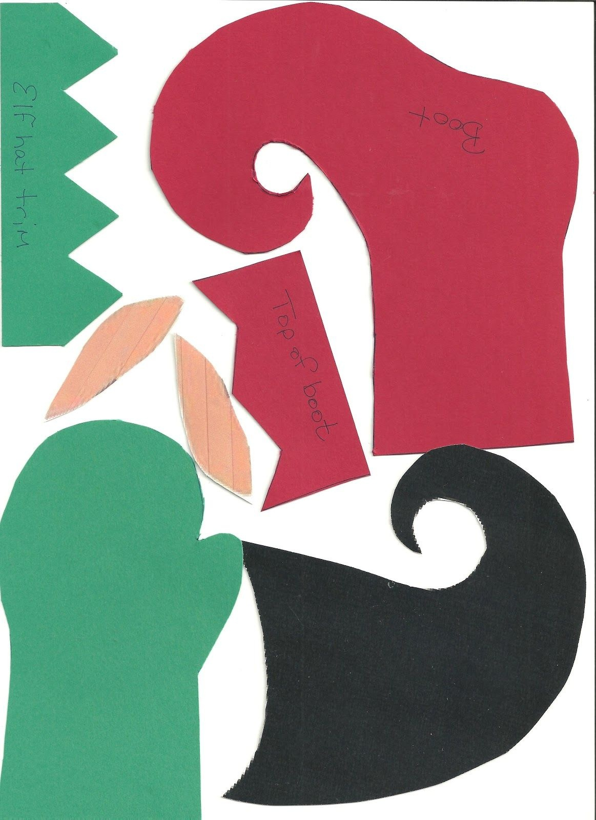 Free Printable Template For Making An Elf With A Picture Of Your - Free Printable Elf Pattern