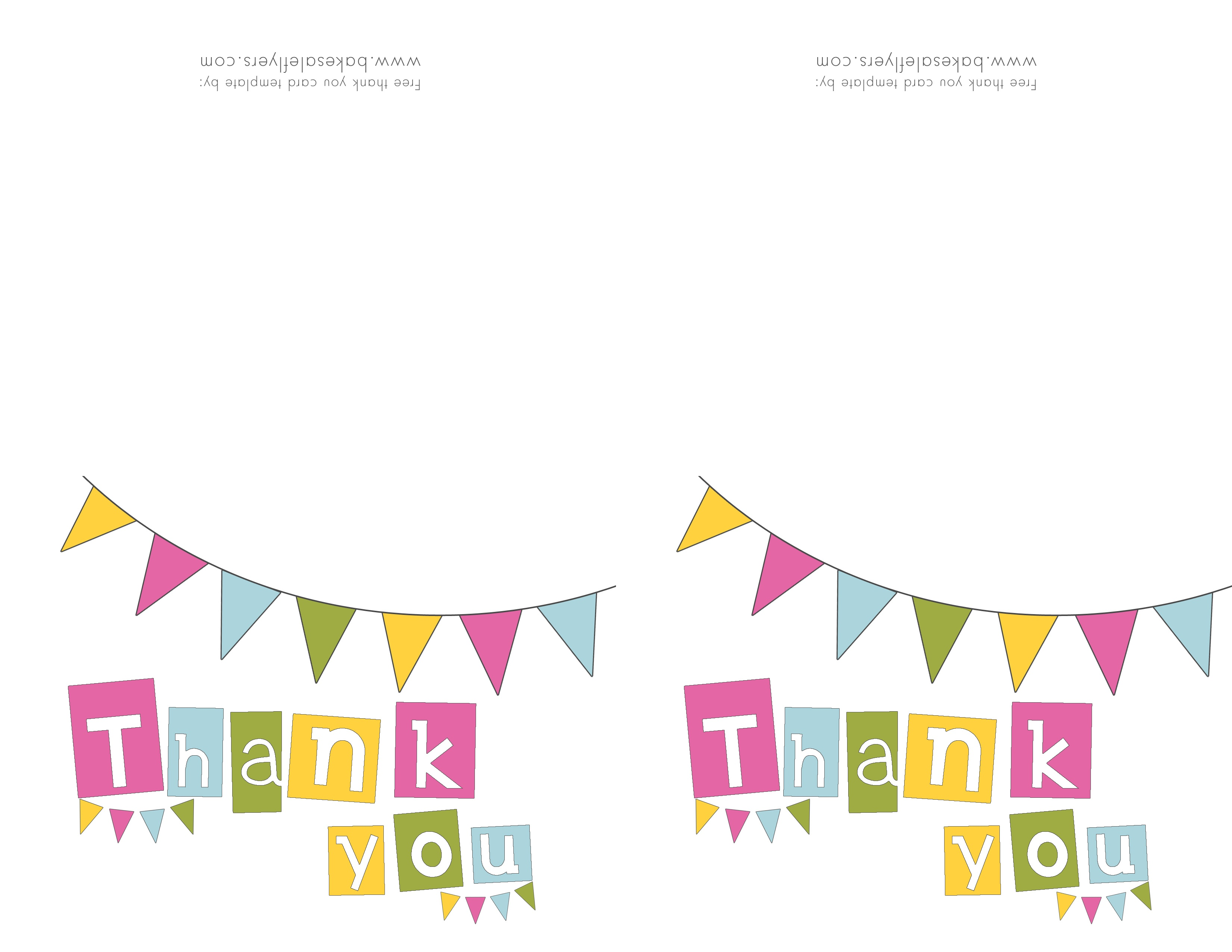 Free Printable Thank You Cards | Bake Sale Flyers – Free Flyer Designs - Thank You Card Free Printable Template