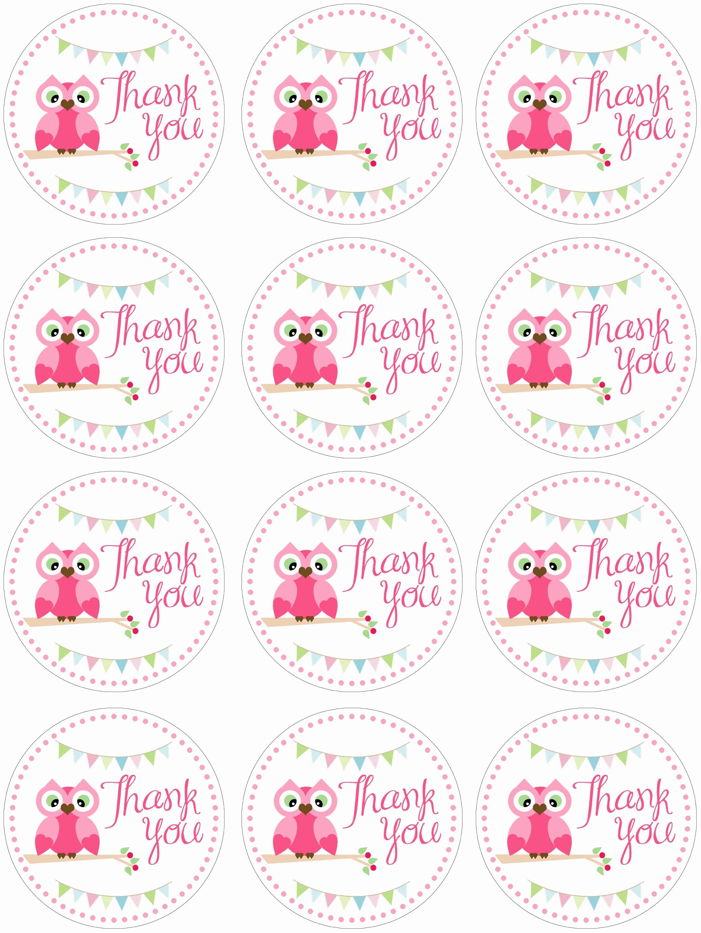 Free Printable Thank You Stickers – Pictimilitude - Free Printable Thank You Tags Template