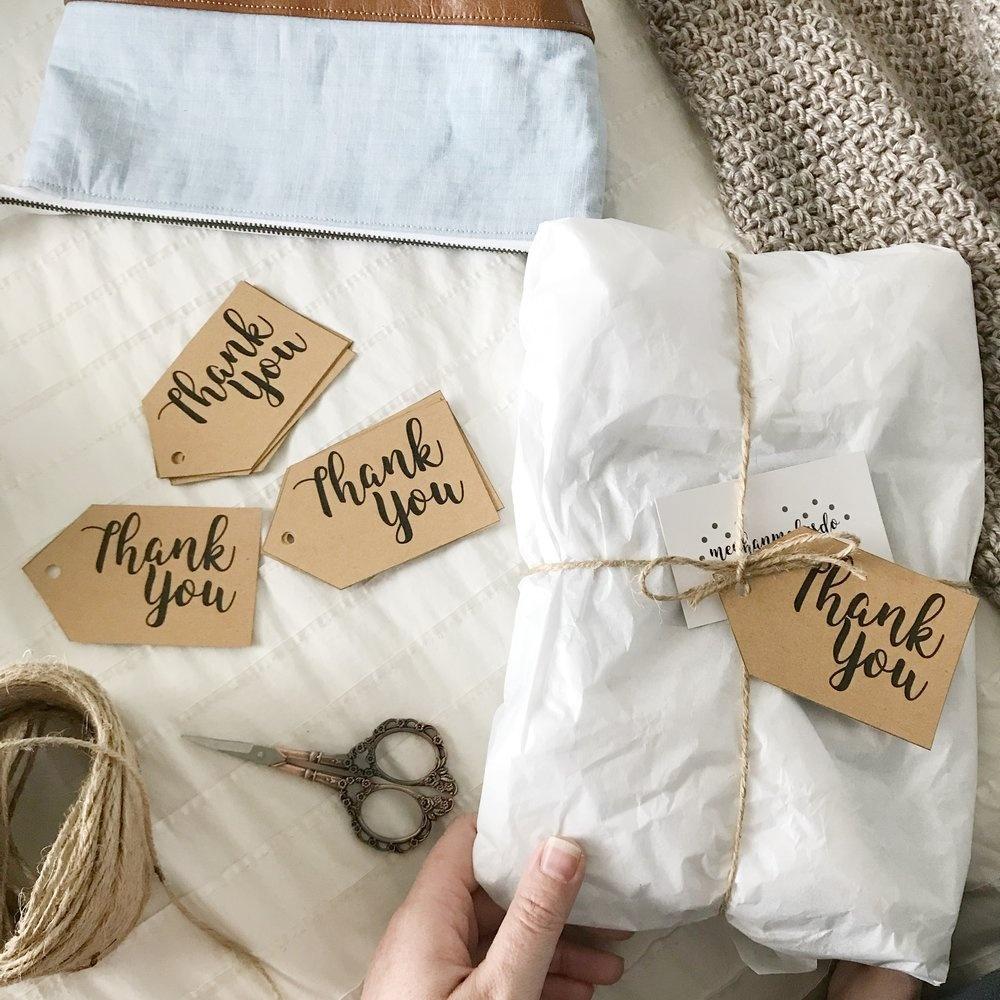 Free Printable Thank You Tags — Meghan Makes Do - Free Printable Thank You Tags