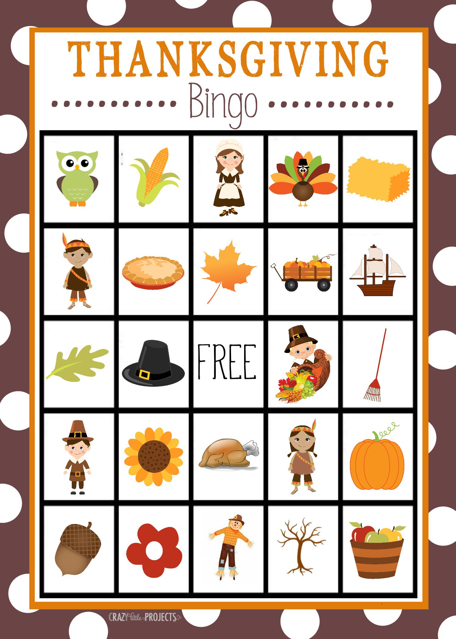 Free Printable Thanksgiving Bingo Game   Craft Time   Thanksgiving - Free Printable For Thanksgiving