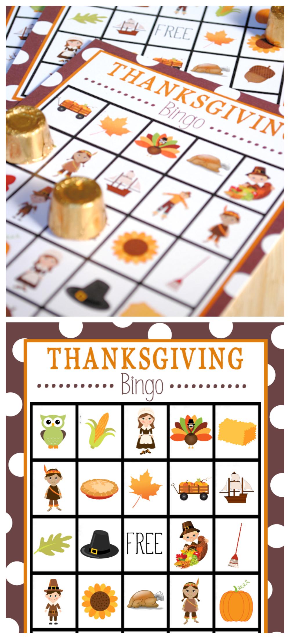 Free Printable Thanksgiving Bingo Game   Thanksgiving   Thanksgiving - Free Printable For Thanksgiving