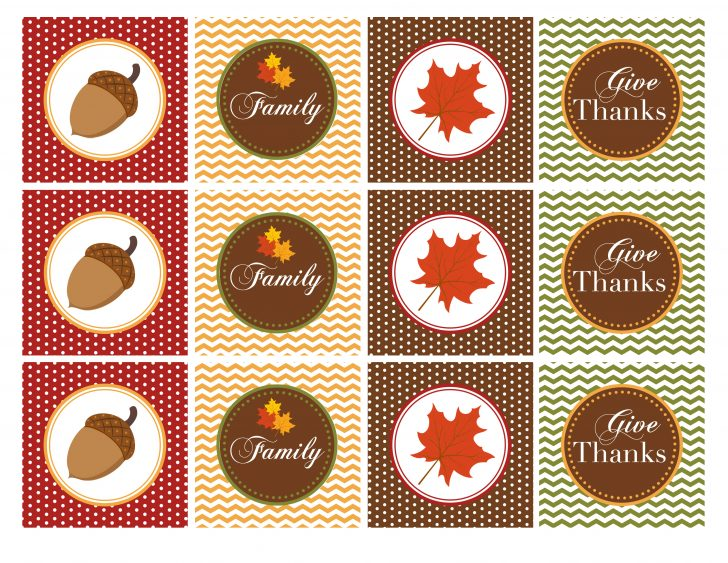 Thanksgiving Cupcake Toppers Printable Free