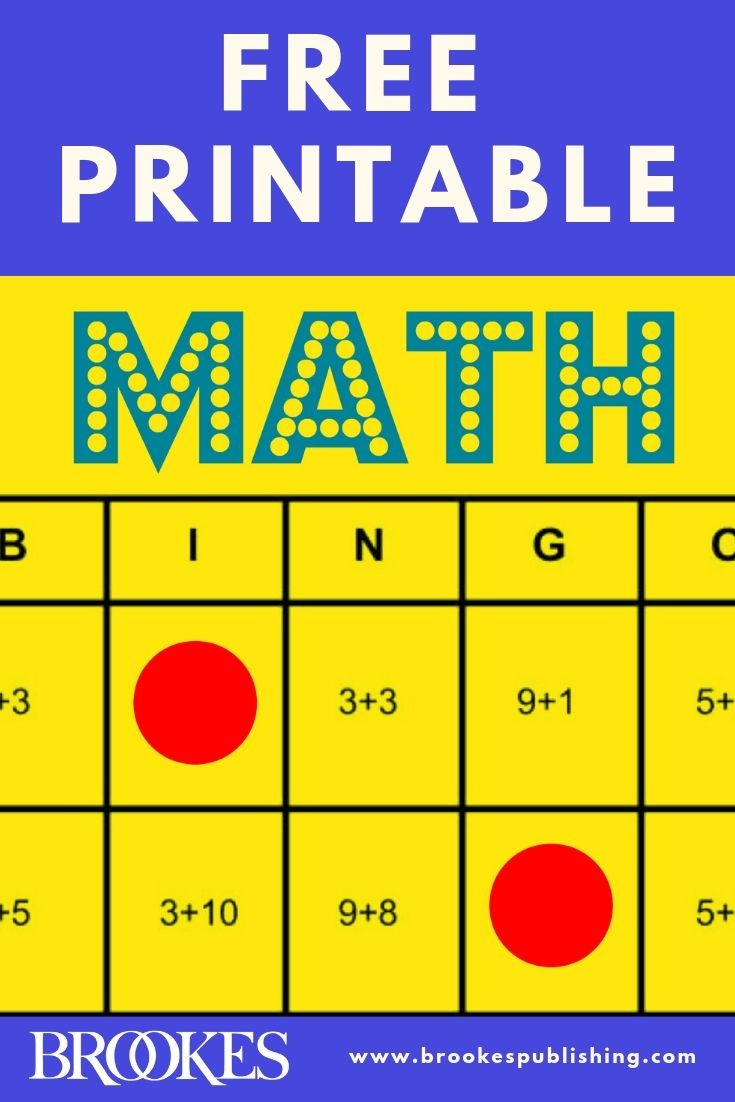 Free Printable: These Math Bingo Cards Can Help You Teach All Kids - Math Bingo Free Printable