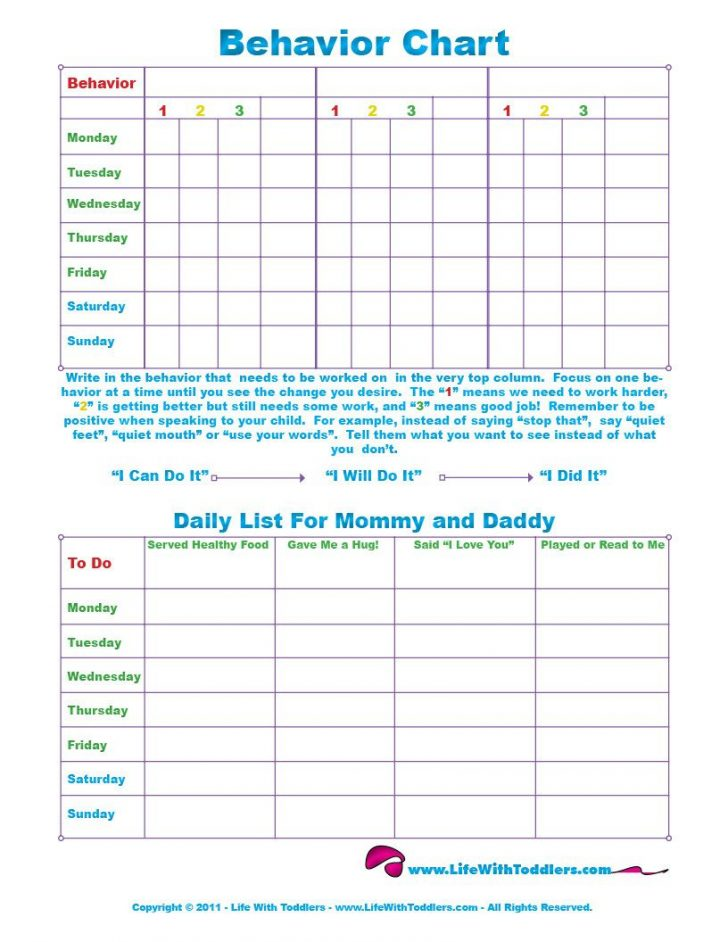 Free Printable Reward Charts For 2 Year Olds