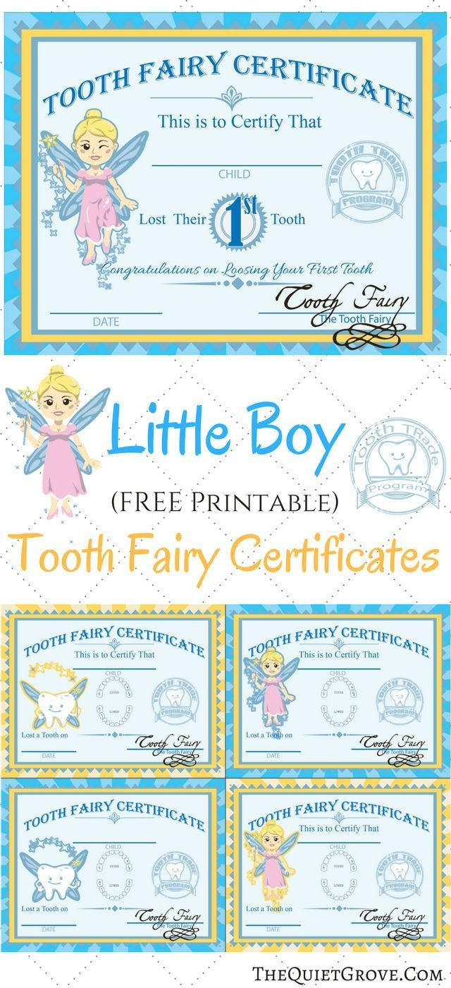 Free Printable Tooth Fairy Certificates   Fabnfree // Freebie Group - Free Printable Tooth Fairy Pictures