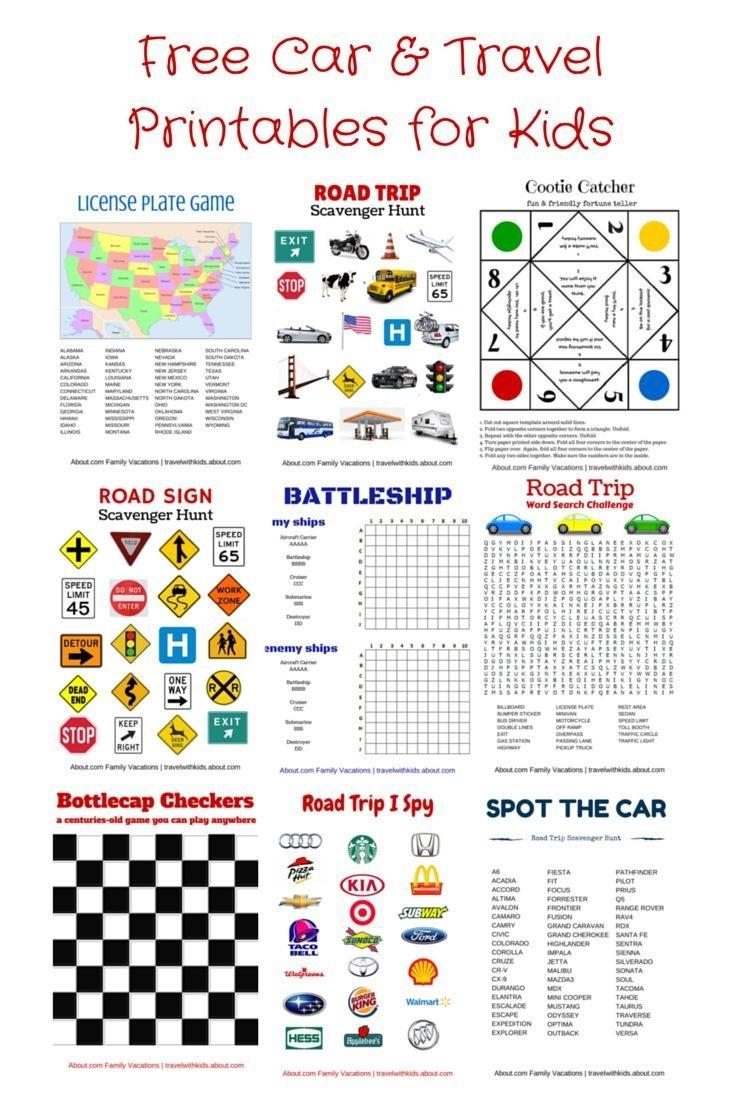 Free Printable Travel Games For Kids   Family Road Trips   Road Trip - Free Printable Car Ride Games