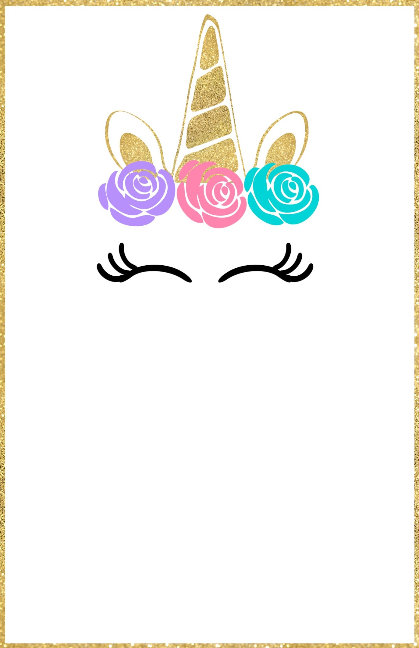 Free Printable Unicorn Invitations Template - Paper Trail Design - Free Printable Party Invitations