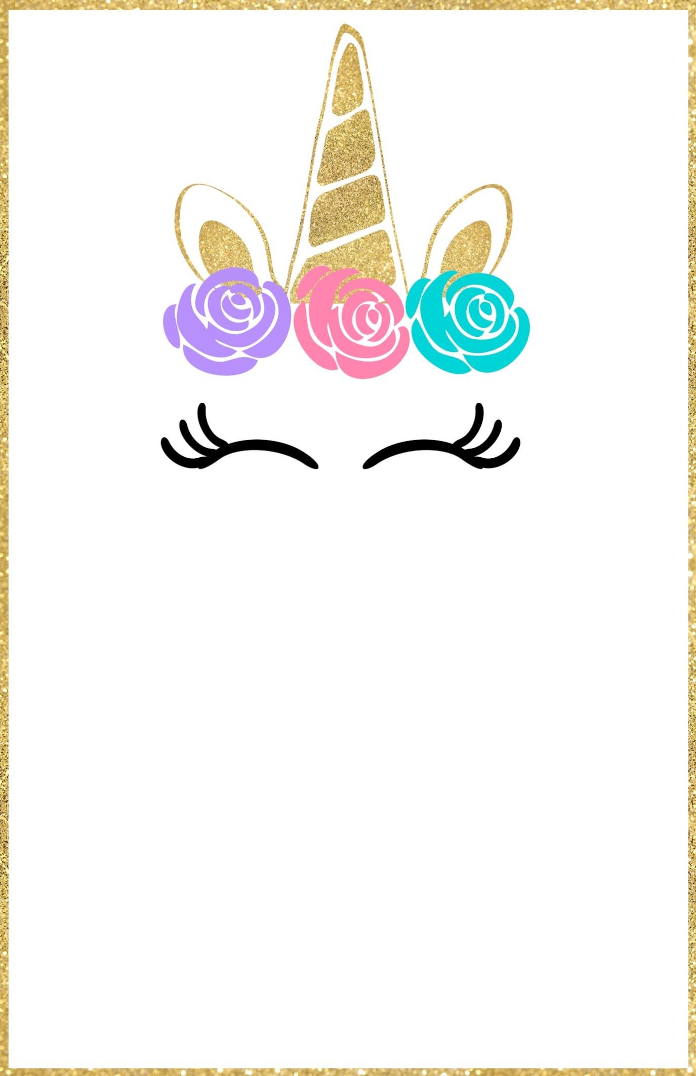 Free Printable Unicorn Invitations Template - Paper Trail Design - Free Printable Unicorn Birthday Invitations