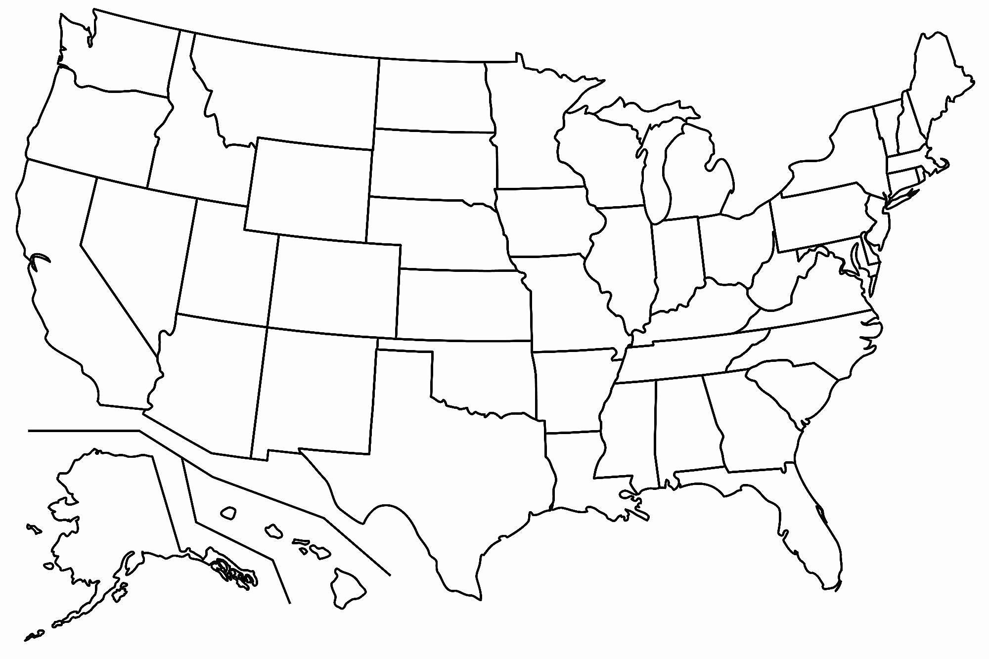 Free Printable Us Map Blank Blank Us Map Printable My Blog Printable - Free Printable Outline Map Of United States