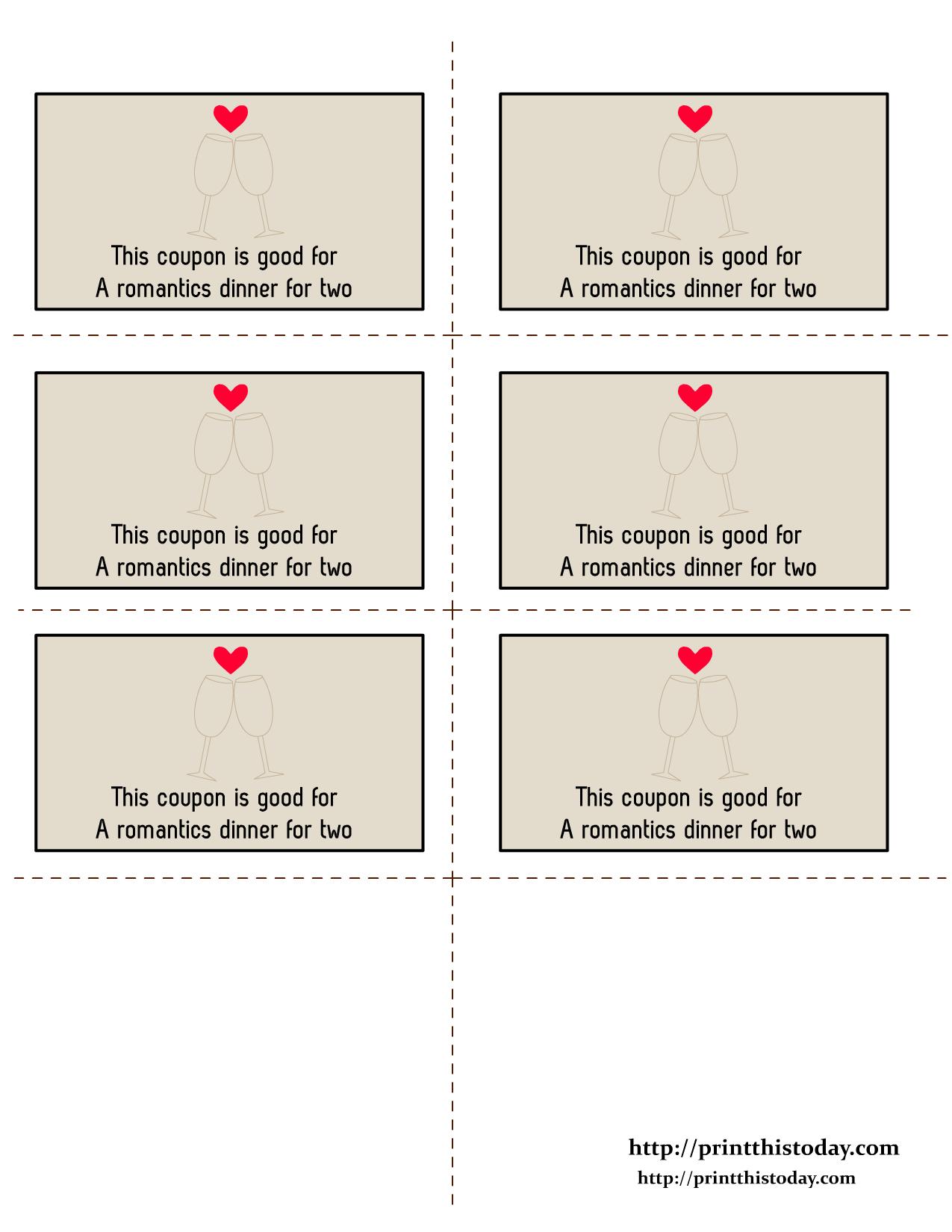 Free Printable Valentine Coupons | Free Printables | Love Coupons - Free Printable Love Coupons For Wife