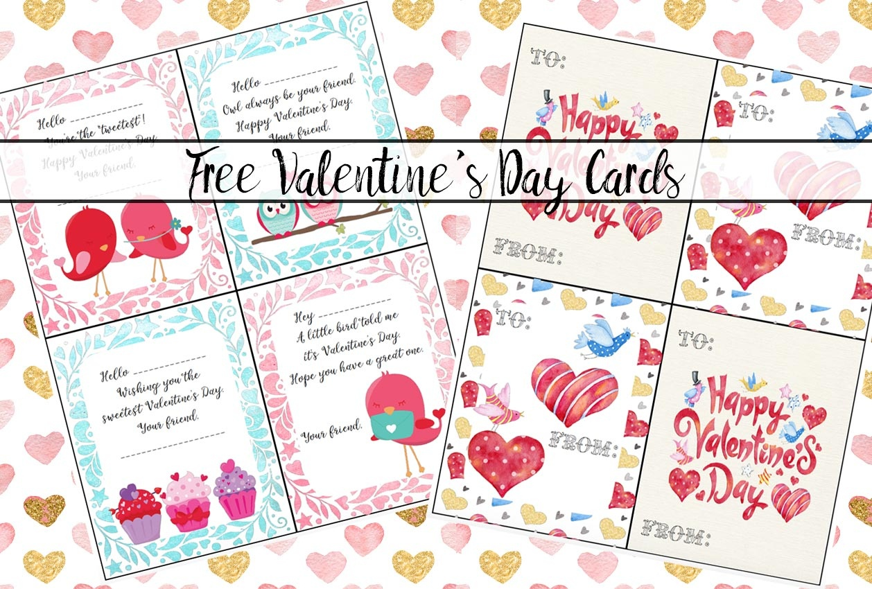 Free Printable Valentine's Day Cards For Kids - Free Printable Heart Designs
