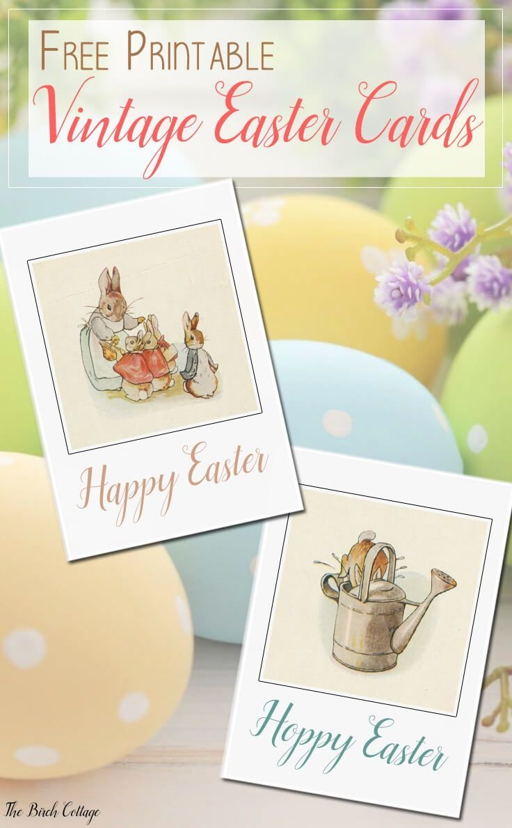 Free Printable Vintage Easter Cards | Bloggers' Fun Family Projects - Free Printable Easter Cards