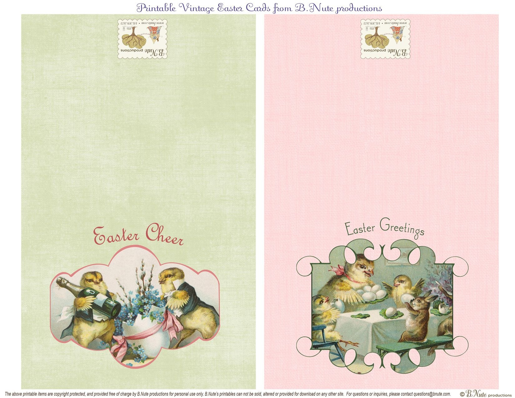 Free Printable Vintage Easter Folded Cards. I Finally Found These - Printable Easter Greeting Cards Free