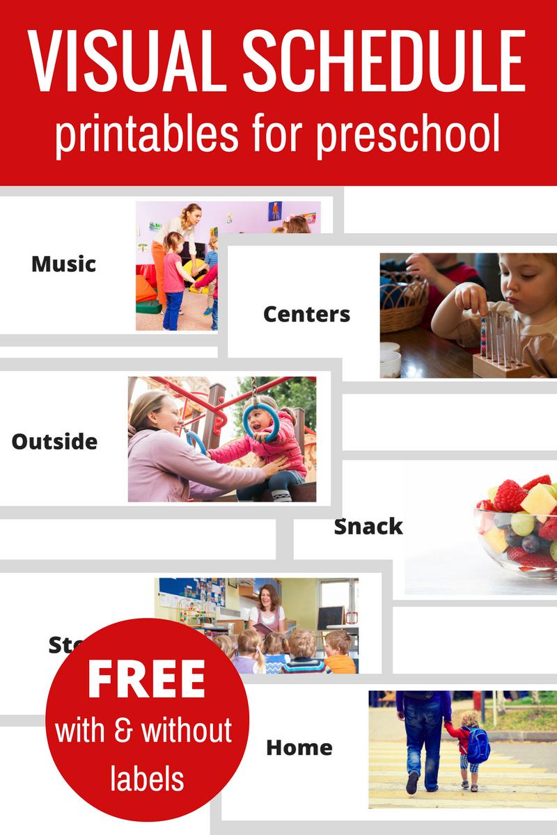 Free Printable Visual Schedule For Preschool - No Time For Flash Cards - Free Printable Visual Schedule For Preschool