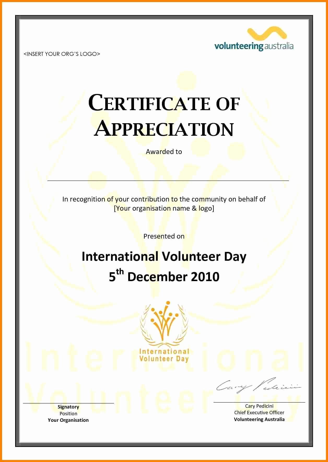 Free Printable Volunteer Certificates Of Appreciation - Tduck.ca - Free Printable Volunteer Certificates Of Appreciation