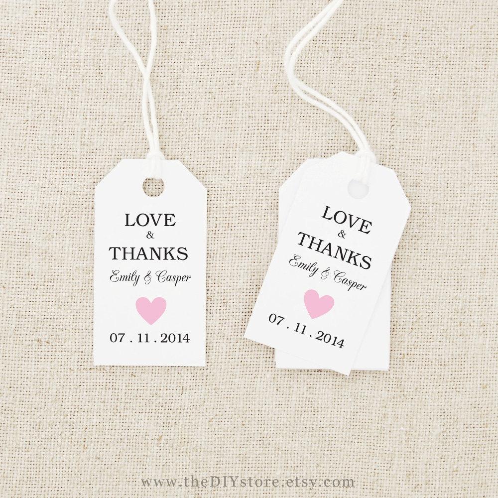 Free Printable Wedding Gift Tags Templates - Tutlin.psstech.co - Free Printable Wedding Favor Tags